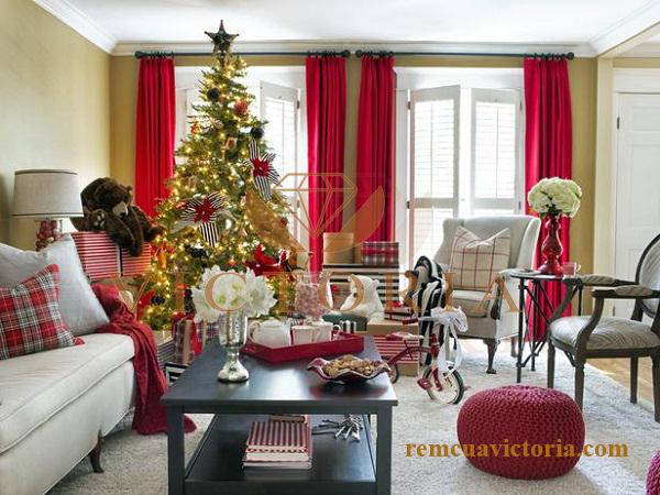 Rèm cửa đẹp màu đỏ victoria